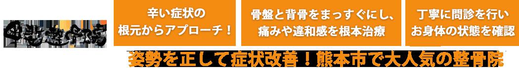 手術はしたくない」でも治したいあなたへ! 骨盤・背骨の歪みからくる身体の不調を根元から本格矯正!熊本市で大人気の整骨院